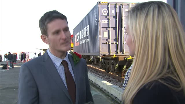 the first direct freight train between china and the uk has arrived in london after a journey of more than seven thousand milesthe route is known as... - european union stock videos and b-roll footage