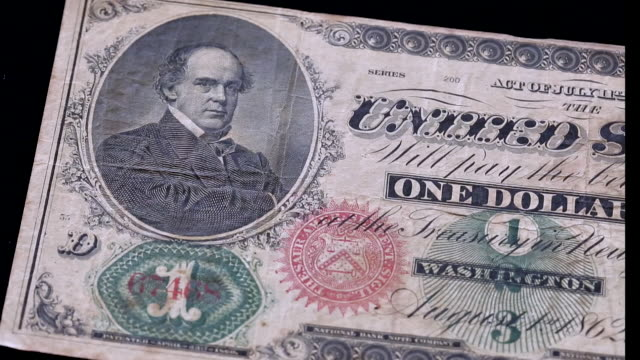 the first dollar bill made in 1860, usa - american one dollar bill stock videos & royalty-free footage