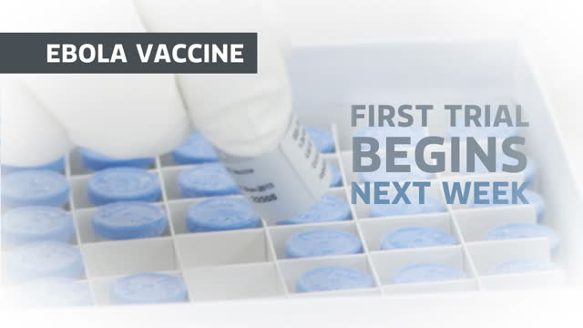 the first ebola vaccines are being shipped to liberia today the vaccinne which was created using chimpanzee excrement will be tested on 30 thousand... - ワクチン接種点の映像素材/bロール