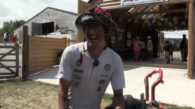 the first man to unicycle round the world said he will cycle another 10 miles home after his welcome party as he made his triumphant onewheeled... - 2 3 years stock videos & royalty-free footage