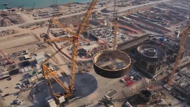 stockvideo's en b-roll-footage met the first reactor of turkey's akkuyu nuclear power plant is planned to be operational in 2023 when the country will be celebrating the 100th... - plant stage