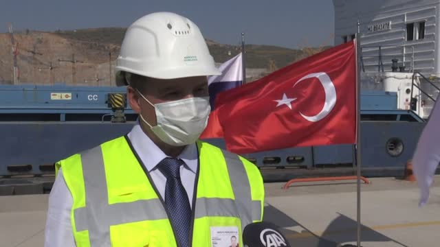 stockvideo's en b-roll-footage met the first reactor of turkey's akkuyu nuclear power plant is scheduled to be operational by 2023, when the country will be celebrating the 100th... - plant stage