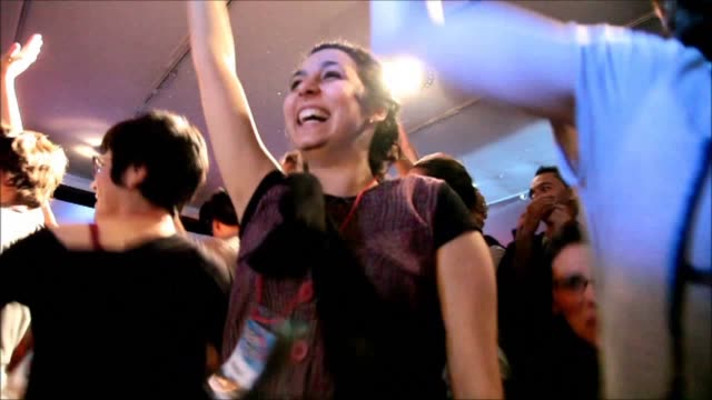 the first sencity party for hearing-impaired in brazil was broadcast live simultaneously with its original version in rotterdam from the museum of... - deafness stock videos & royalty-free footage