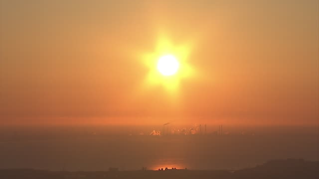 the first sunrise of the year, tokyo, japan - tokyo bay stock videos & royalty-free footage