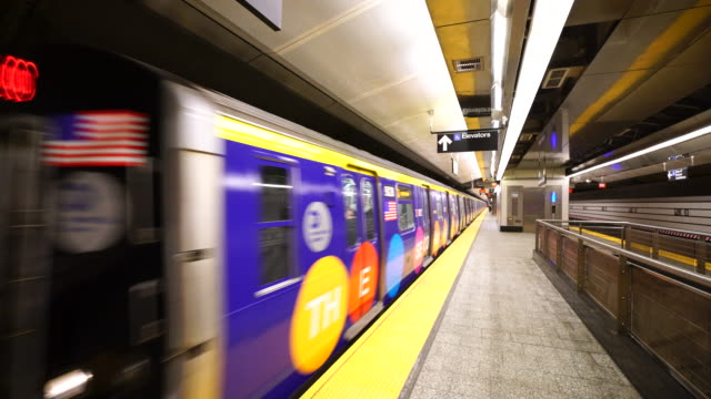 the first train left the station at east 96th street after a speech by gov andrew cuomo - andrew cuomo stock videos and b-roll footage