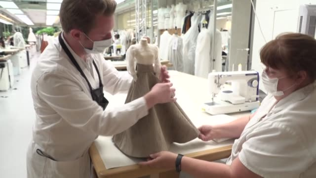 FRA: Dior showcases 'miniature' couture collection in a short film as Paris Fashion Week goes online
