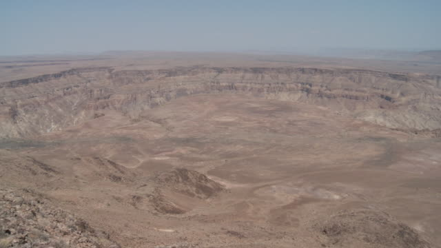 The Fish River flows through the Fish River Canyon in Namibia.