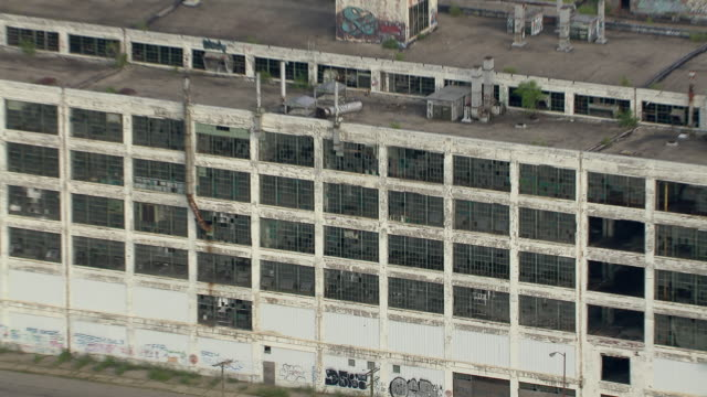 The Fisher Body Plant 21, a deserted auto body assembly plant located in the Piquette Avenue Industrial Historic District of Detroit, Michigan.