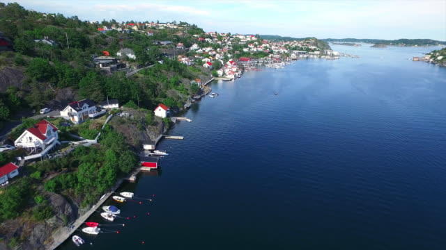 the fjords of kragero - telemark stock videos and b-roll footage
