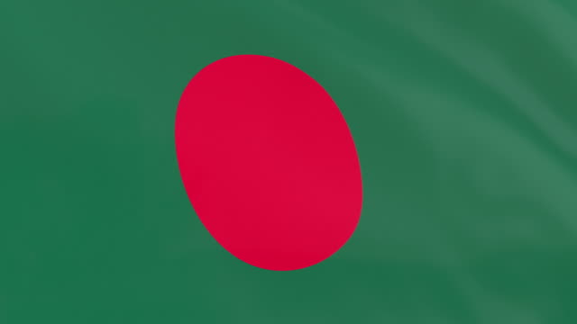 the flag of bangladesh loop - flag of bangladesh stock videos & royalty-free footage