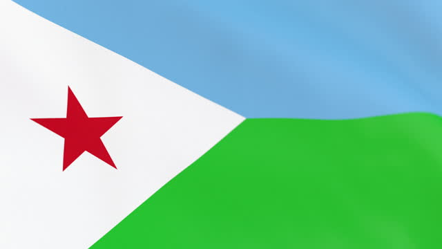 the flag of djibouti loop - horn of africa stock videos & royalty-free footage