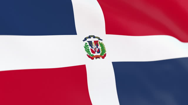 the flag of dominican republic loop - dominican revolutionary party stock videos & royalty-free footage