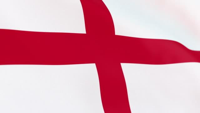 the flag of england loop - money politics stock videos & royalty-free footage