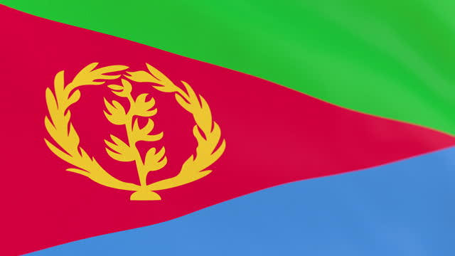 the flag of eritrea loop - horn of africa stock videos & royalty-free footage