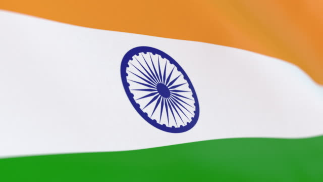 the flag of india loop - indian politics stock videos & royalty-free footage