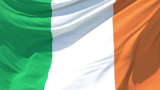 the flag of ireland fluttering in the wind - national flag stock videos & royalty-free footage