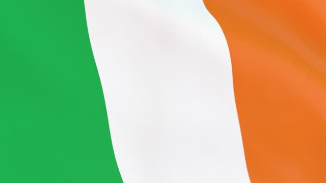 the flag of ireland loop - identity politics stock videos & royalty-free footage