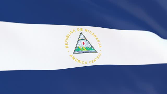 the flag of nicaragua loop - managua stock videos & royalty-free footage