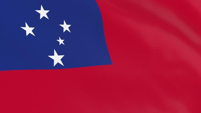 the flag of samoa loop - samoa stock videos & royalty-free footage