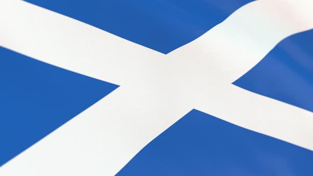 the flag of scotland loop - identity politics stock videos & royalty-free footage