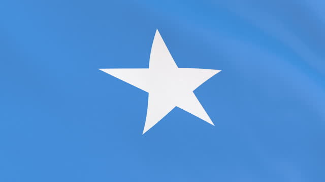 the flag of somalia loop - horn of africa stock videos & royalty-free footage