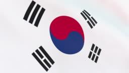 The flag of South Korean loop