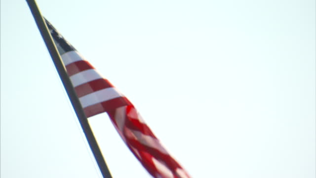 The flag of the USA waving in the breeze