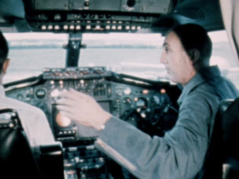 the flight crew of concorde 001 prepare the craft for its maiden flight 1969 - british aerospace concorde stock videos & royalty-free footage