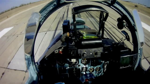 the flight of a military aircraft. view from the cockpit. - army exercise stock videos and b-roll footage