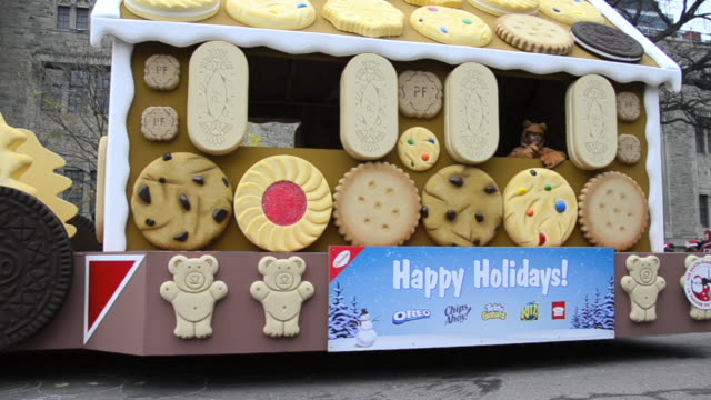 The float by Christie featuring Oreo cookies The event is a tradition held in the Canadian city for more than a hundred years now It is the...