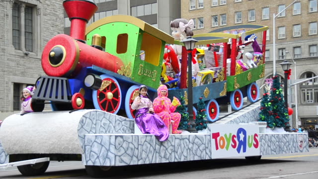 The float by 'Toys R Us' in the corner of Bloor Street and Queens Park Avenue The event is a tradition held in the Canadian city for more than a...