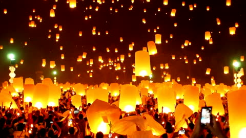 the floating lanterns - editorial stock videos & royalty-free footage