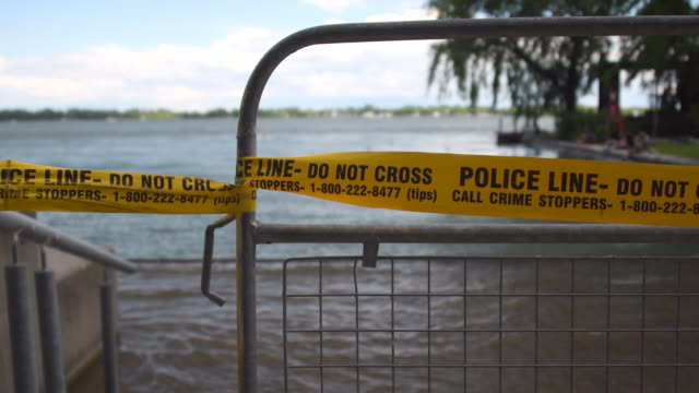 stockvideo's en b-roll-footage met the flooding at center island, which is a tourist attraction, has caused a loss of revenue of about 5 million - ontariomeer