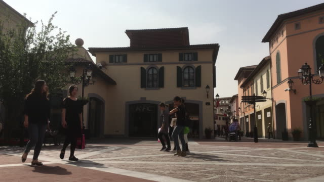 The Florentia Village a replica of Italian town located in Wuqing an outskirt station between Beijing and Tianjin is a luxury and fashion outlet mall...