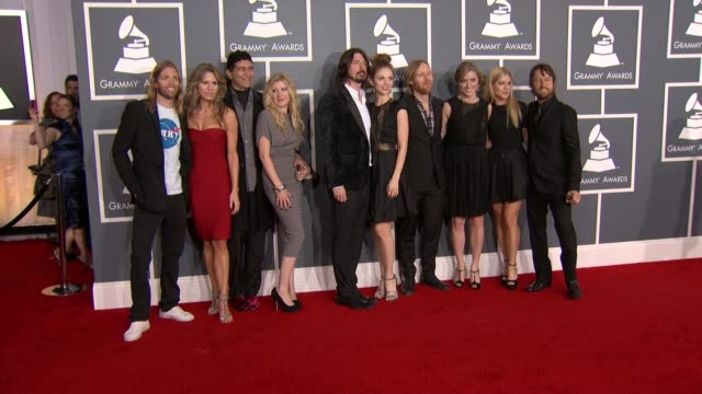 The Foo Fighters at 54th Annual GRAMMY Awards Arrivals on 2/12/12 in Los Angeles CA