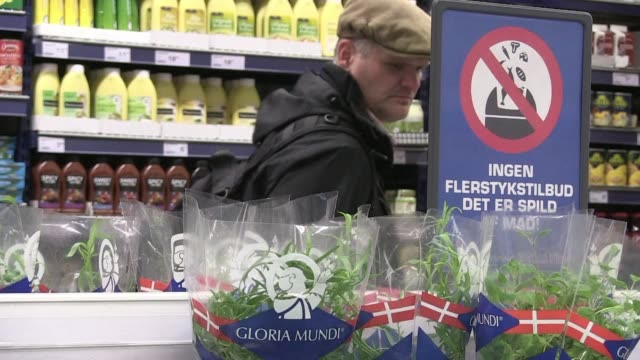 the food might be past its sell by date but for many danes it's a tasty proposition - oresund region stock videos & royalty-free footage