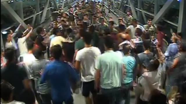 the footage recorded on july 15 2016 during the parallel state/gulenist terrorist organization's failed military coup attempt shows repelled soldiers... - staatsstreich stock-videos und b-roll-filmmaterial