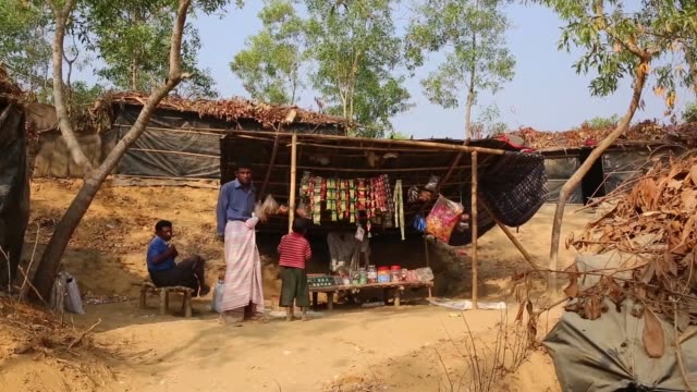 cox's bazaar bangladeş february 20 the footage shows the views from refugee camp set up 2 months ago for muslim rohingyas fled from myammar's rakhine... - cox's bazaar stock videos and b-roll footage