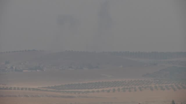 The footage taken from Karkamis district of the Turkey's Gaziantep province shows that Turkish fighter jets howitzers and tanks early Wednesday...