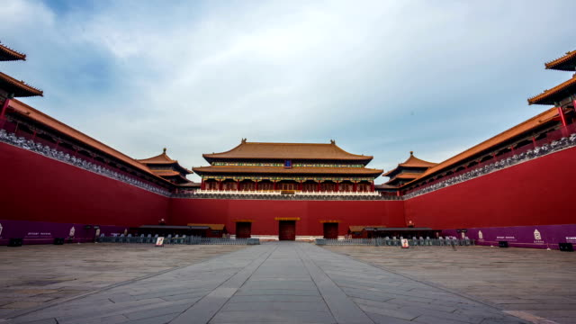 t/l of the forbidden city, beijing, china - tiananmen square stock videos and b-roll footage
