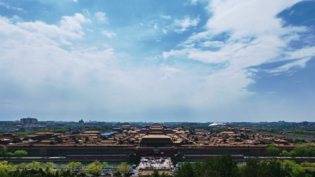 T/L WS ZI The Forbidden City under clouds / Beijing, China