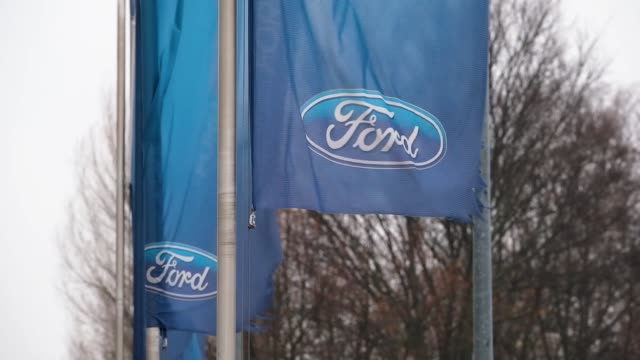 the ford logo is seen at a ford car dealership on january 11 2019 in berlin germany ford recently announced that it will shed thousands of jobs in... - ford motor company stock videos & royalty-free footage