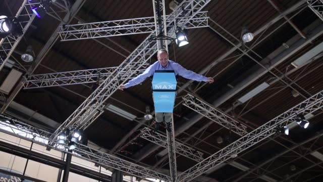the ford motor co logo sits on a sign at the paris motor show on the final preview day in paris france on friday oct 3 fabrice giacoletti marketing... - piston stock videos & royalty-free footage