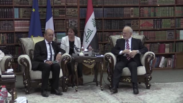 The foreign and defence ministers of France affirmed their country's support in the fight against the Islamic State group during a visit to Baghdad...