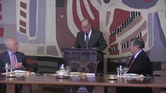 the foreign ministers of mercosur met thursday in brasilia ahead of a summit which will mark the entrance of bolivia as full member of the bloc - mercosur stock videos & royalty-free footage