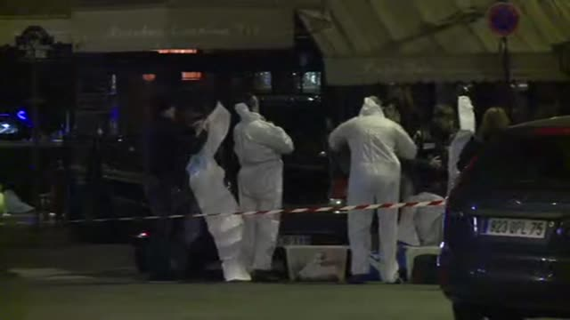 the forensic police were investigating saturday in the early morning at a terrass that was targeted in one of the attacks that caused at least 120... - friday stock videos & royalty-free footage