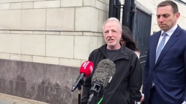 The former boyfriend of Marian Brown Thomas Corrigan reacts after an inquest found her shooting dead by soldiers was unjustified The 17yearold died...