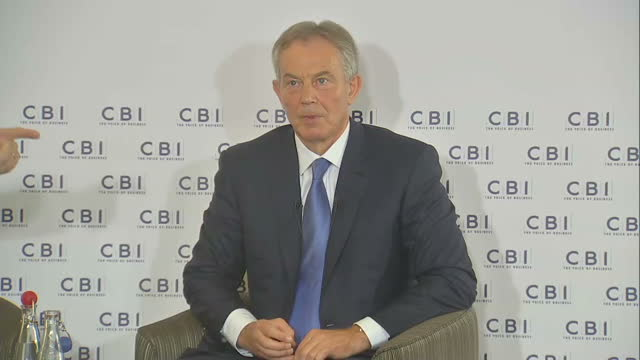 the former prime minister tony blair believes ukip's election victory should serve as a wakeup call and he's said that the antieurope sentiment... - prime minister's questions stock videos & royalty-free footage