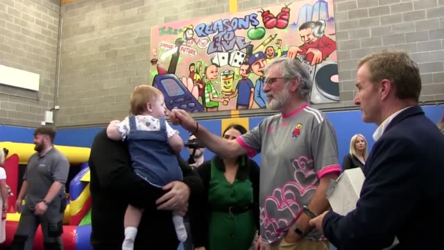 the former sinn fein president gerry adams attended a family fun day in the new lodge on saturday two days after the police were forced to withdraw... - incidental people stock videos & royalty-free footage