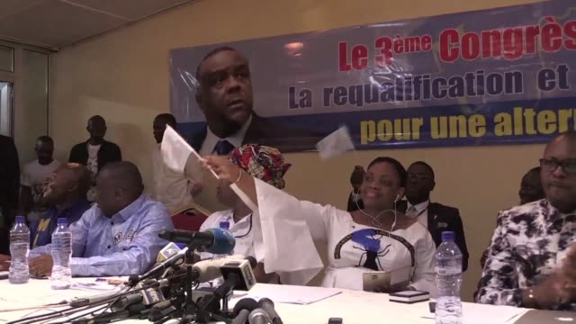 vídeos de stock, filmes e b-roll de the former vice president of dr congo jean pierre bemba who was acquitted last month of war crimes is named by his party as a candidate in... - ex